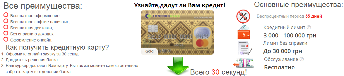 оформить кредитную карту онлайн с моментальным решением